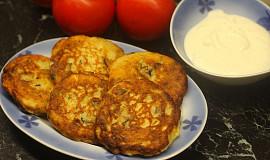 Kynuté bramborové lívanečky s houbami