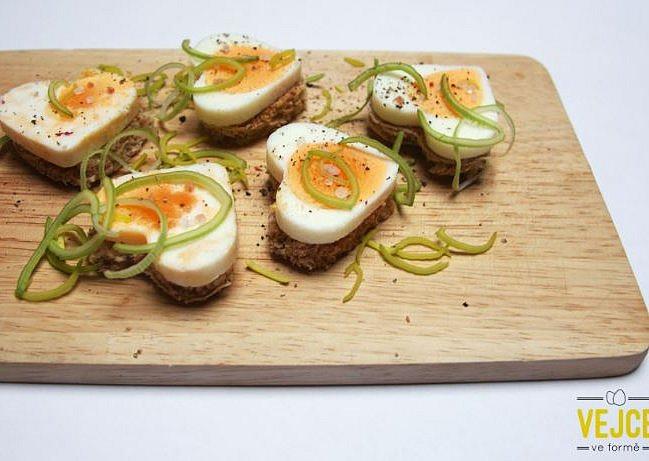 Vajíčkové jednohubky ve formě, Vajíčkové jednohubky