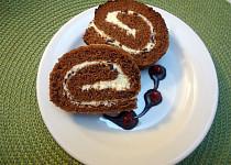 Kakaová roláda s tvarohovo-máslovým krémem