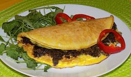 Omeleta s houbami