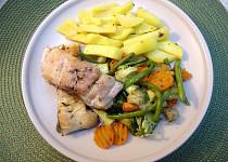 Ryba dělaná v papilotě a zelenina na másle