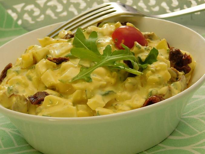 Vajíčkový salát s rukolou
