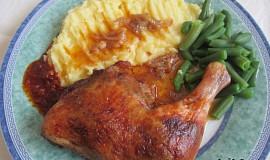 Pečená kuřecí stehna lin