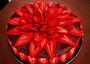 Pařížský dort s jahodovou růží