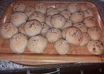 Chlebové vdolky plněné anglickou slaninou