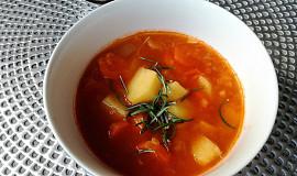 Indická polévka s červenou čočkou