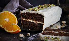 Mrkvový dort (chlebíček, bábovka) s pomerančovou chutí