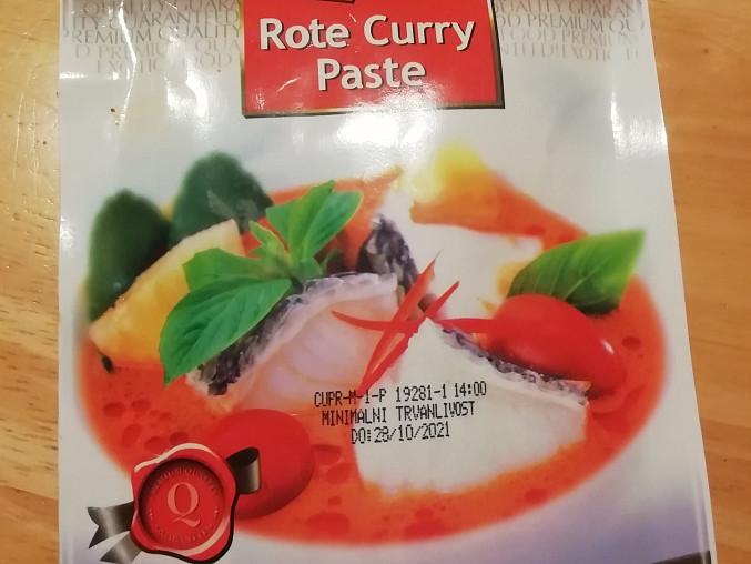 Thajská polévka, Curry paste