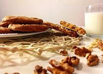 Čokoládové cookies s ořechy