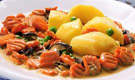 Dušená mrkev s houbami