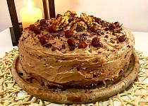 Ořechovo-kakaový dort