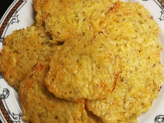 Pečené sýrové bramboráčky