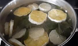 Rýmovníkový sirup s citronem
