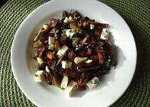 Salát z pečených žampionů a zelených fazolek