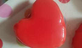 Srdíčka z vanilkové pěny