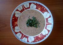 Cizrnová polévka s ovesnou smetanou