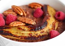 Čokoládová pohanková kaše s malinovým rozvarem