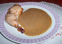 Cibulová omáčka k uzeným kuřecím stehnům