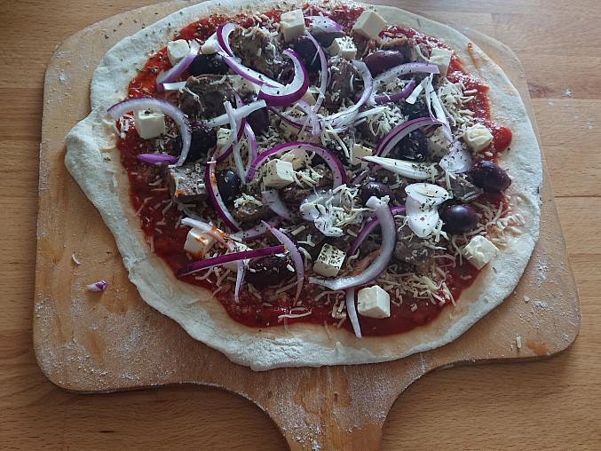 Jehněčí pizza na grilu, Jehněčí pizza