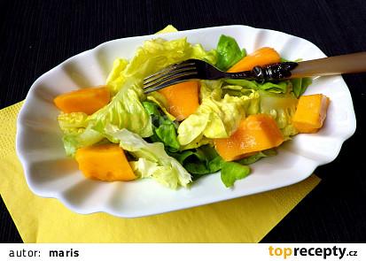 Listový salát s mangem
