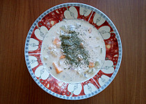 Mléčná polévka s batátem