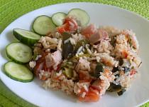 Zeleninová rýže se šunkou
