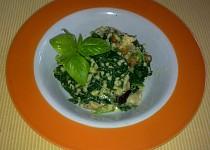 Jáhlové risotto s hříbky a hermelínem