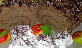 Lehká  banánovo-kávová roláda  s capuccinem ke  kávičce