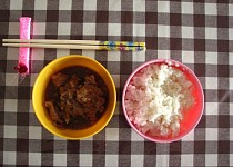 Vepřové po indonésku s rýží
