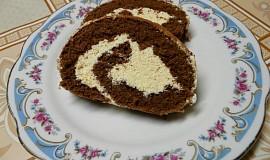 Kakaová roláda s karamelovým krémem
