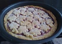 Mřížkový malinový koláč