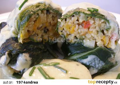 Zeleninovo bulgurové balíčky v mangoldu