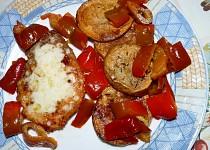 Plátky na majoránce s pikantním kořením a smaženým bramborem