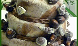 Třípatrový Mořský dort s mušlemi