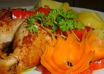 Kuřecí stehna na paprice a s paprikou