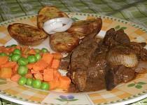 Vepřová játra na bylinkovém koření a cibuli