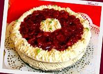 Třešňový dort s tvarohovo - smetanovým krémem