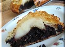 Čokoládovo-hruškový křehký koláč