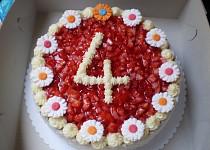 Jahodový dortík