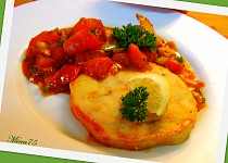 Štikozubec s rajčaty a petrželkou