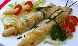 Chřest v bylinkových omeletkách