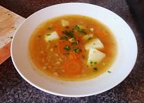 Hrstková polévka se zeleninou