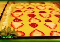 Ovocný košík v pudinkové louži