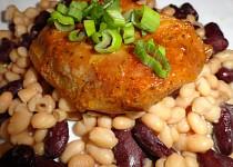 Vepřová pečeně s ostrými fazolkami