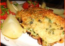 Losos v sýrovo-bylinkovém těstíčku