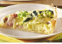 Slaný koláč s brokolicí