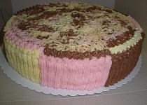 Barevný dort špagetový