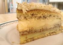 Ořechovo-vanilkový dort