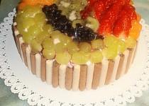 Ovocný dort s tvarohem