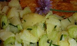 Řapíkatý bramborový salát k bleskové rybě